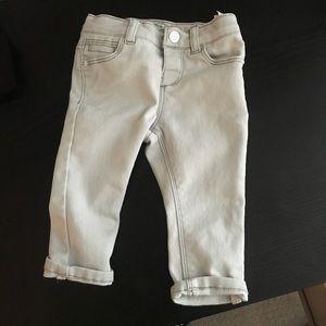 Zara baby girl light grey jeans 3-6 month